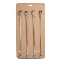 Pineapple Topped Stirrers - Set of 4