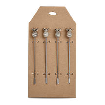 Pineapple Topped Cocktail Picks - Set of 4