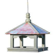 Classic Copper Roofed Hanging Bird Table