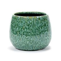 Glazed Seagrass Green Pot - Medium