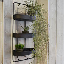 Triple Shelf Iron Wall Unit