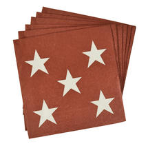 Russet Small Star Paper Napkin