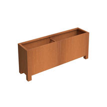 Squared Footed Planter 120 x 50 x 60