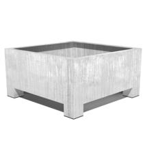 Galvanised Square Footed Planter 140 x 140 x 80