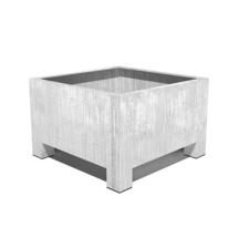 Galvanised Square Footed Planter  100 x 100 x 80