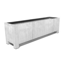 Galvanised Trough Footed Planter  150 x 50 x 60