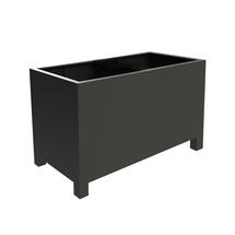 Square Aluminum Footed Planter 120 x 50 x 60