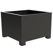 Square Aluminum Footed Planter 140 x 140 x 80