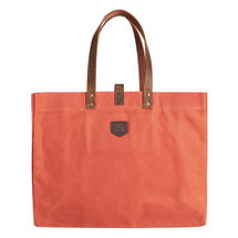 Large Waxed Canvas East West - Burnt Orange