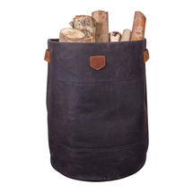 Waxed Canvas Storage Bag - Charcoal