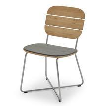 Lilium Chair Cushion - Charcoal