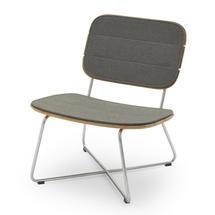 Lilium Lounge Chair Cushion - Charcoal