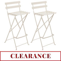 Bistro Tall Chairs x 2 - Linen