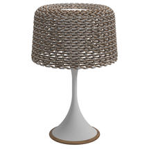 Ambient Mesh Solar Table Lamp - White / Sorrel