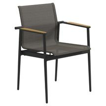 180 Stacking Chair with Teak Arms - Meteor / Granite Sling