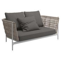 Grand Weave Sofa White / Almond - Granite