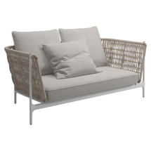 Grand Weave Sofa White / Almond - Blend Linen