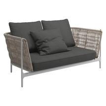 Grand Weave Sofa White / Almond - Blend Coal