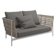Grand Weave Sofa White / Almond - Fife Rainy Grey