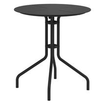 Curve 70cm Round Pedestal Dining Table - Meteor