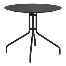 Curve 90cm Round Pedestal Dining Table - Meteor