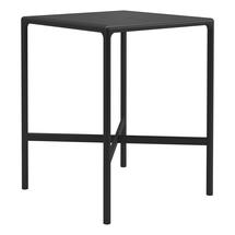 Curve 80cm Square Bar Table - Meteor