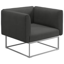 Maya Lounge Chair 97x86 White - Blend Coal