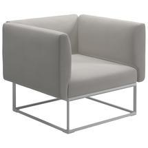 Maya Lounge Chair 97x86 White - Blend Linen