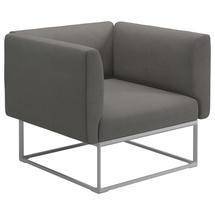 Maya Lounge Chair 97x86 White - Fife Rainy Grey