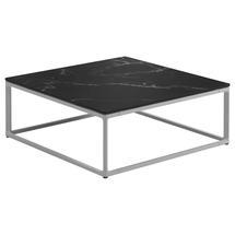 Maya Coffee Table 75 x 75 Nero Ceramic - White