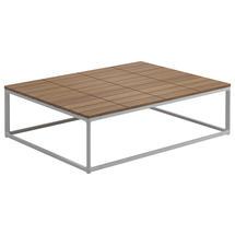 Maya Coffee Table 75 x 100 Teak - White