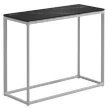 Maya Low Console Table 75 x 30 Nero Ceramic - White