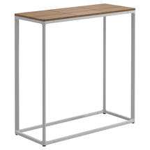 Maya Tall Console Table 75 x 30 Teak - White