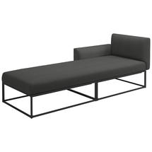 Maya Left / Right Daybed 211 x 86 Meteor- Blend Coal