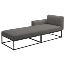Maya Left / Right Daybed 211 x 86 Meteor- Fife Rainy Grey