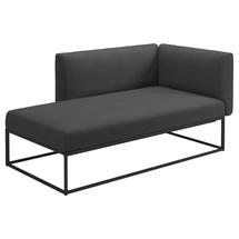 Maya Left / Right Chaise Unit 161 x 86 Meteor- Blend Coal