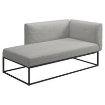 Maya Left / Right Chaise Unit 161 x 86 Meteor- Seagull