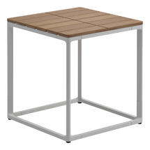 Maya Side Table 45 x 45 Teak - White