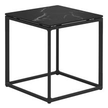 Maya Side Table 45 x 45 Nero Ceramic - Meteor