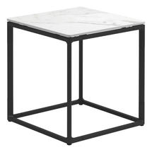 Maya Side Table 45 x 45 Bianco Ceramic - Meteor