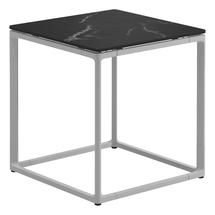 Maya Side Table 45 x 45 Nero Ceramic - White