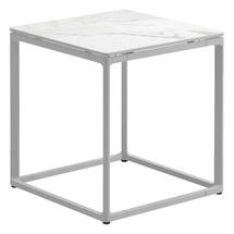 Maya Side Table 45 x 45 Bianco Ceramic - White