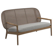 Kay Low Back Sofa Brindle Weave- Seagull