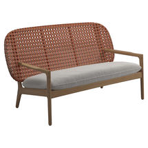 Kay Low Back Sofa Copper Weave- Blend linen
