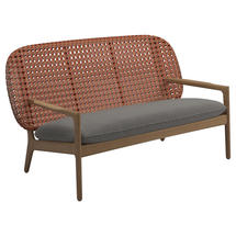 Kay Low Back Sofa Copper Weave- Fife Rainy Grey