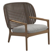 Kay Low Back Lounge Chair Brindle Weave- Seagull