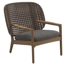 Kay Low Back Lounge Chair Brindle Weave- Granite