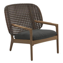 Kay Low Back Lounge Chair Brindle Weave- Blend Coal