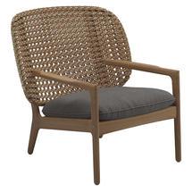 Kay Low Back Lounge Chair Harvest Weave- Granite