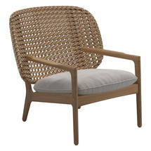 Kay Low Back Lounge Chair Harvest Weave- Blend linen